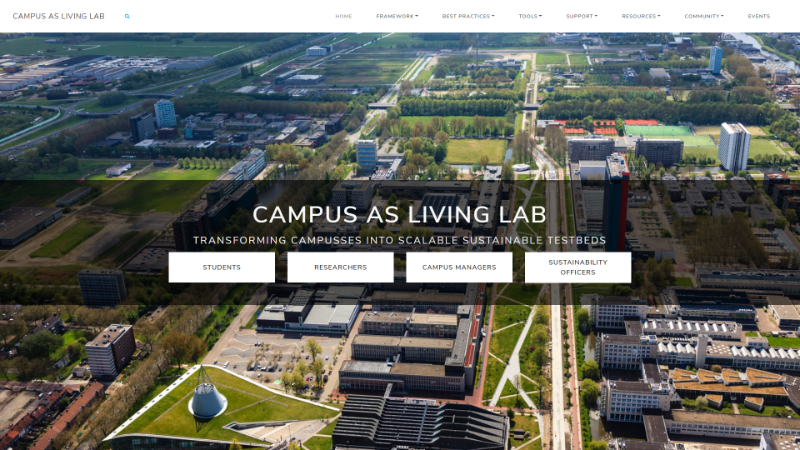 Campus as living lab website screenshot